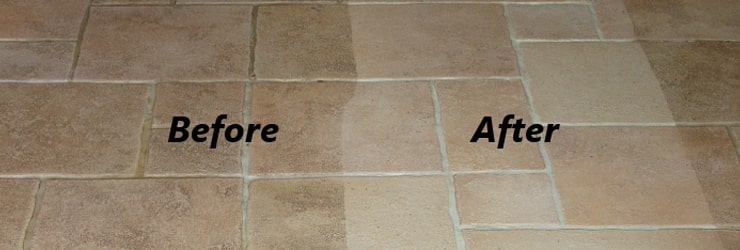 Tile and Grout Cleaning ( Before- After ) Chermside Centre