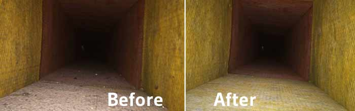 Duct Heating Cleaning Before and After
